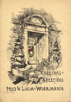 Christmas card by Charles Eames for his first in-laws. See more great items like this on the official Eames Office website.