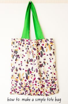learn how to make a simple tote bag. #diy #crafts #sewing