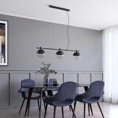 Lucande Dustian lampa wisząca, 3-pkt., 124 cm Room Lights, Hanging Lights, Globe Lamps, Mirror Lamp, Light Beam, Living Room Lighting, Color Negra, Pendant Lamp, Glass Shades