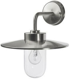 Outdoor Stainless Steel Wall Light IP44 Down Light Heritage Style ZLC025EXT6589 Lorenz exterior wall light  silver grey  A classic Italian  . Marine Grade Stainless Steel Outdoor Wall Lights. Home Design Ideas