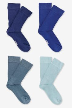 Bamboo Socks - Actives - Blues - 4 Pairs