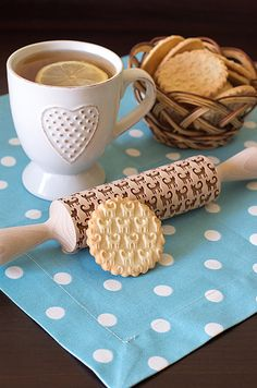 Cats cookie embosser rolling pin Womens gift Cookie stamp Grandma gift Pattern rolling pin Gift for mom Embossing Rolling Pin Wife gift