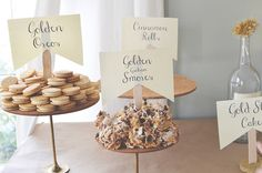 Golden Birthday ideas: golden oreos, golden raisins, golden graham smores, gold fish, golden delicious apples, a gold star cake and cinnamon rolls (no gold there, just the bday girls request). golden bubbles (apple juice for the kids Dig for Gold. Fishing for Gold (fish)