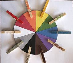 Busy Bag Clothespin Color Matching Preschool Activity Bag ...match lesser known color names