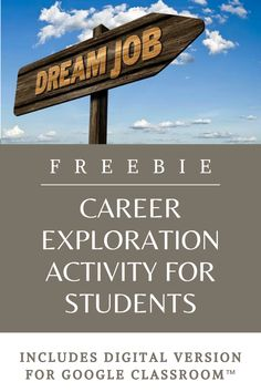 This free career exploration activity is perfect for use in the classroom or via Google Classroom™! While I teach students a unit on economics, I find it is a perfect time to have them go the computer lab and research a career that interests them. This sheet includes a website link that students can use to explore a variety of different careers. The sheet then asks them several questions about that career. Computer Lessons, Technology Lessons, Computer Lab, Social Studies Resources, Teaching Social Studies, Classroom Organization, Classroom Design, Classroom Management, Physical Education Games