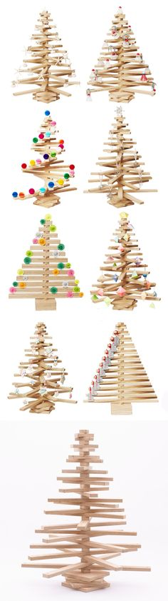 One Two Tree Wooden Christmas Tree sustainably made in Australian with Hoop pine plywood
