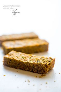 Vegan Hidden Veggie Coconut Almond Homemade Protein Bars - You would never know this healthy snack, or portable breakfast, is secretly healthy, packed with vegetables and is vegan friendly! | Foodfaithfitness.com | @FoodFaithFit: