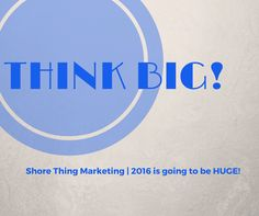At Shore Thing Marketing we talk a big game and we have results to back it up.  We are one of the most dominate sales firms in the area and we are looking forward to an even bigger 2016.    What are your goals for 2016?  #thinkbig #goals #results