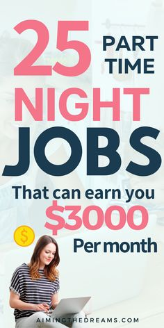 25 legit Part-time night jobs from home (Earn $3000/mo) - Aimingthedreams. If you are a stay at home mom and looking for some ideas to make money online, these jobs will help you work at your own schedule. #workfromhomejobs #makemoneyfromhome #latenightjobs #parttimejobs Ways To Earn Money, Earn Money From Home, Way To Make Money, Home Based Jobs, Work From Home Jobs, Mo Money, Money Tips, Best Home Business, Business Ideas
