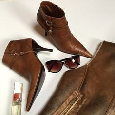 -Leather prada booties Ultra soft prada booties. Excellent pre-owned condition. Calzature Donna antique calf style from neiman Marcus. Box and dust bags included. Prada Shoes Ankle Boots & Booties