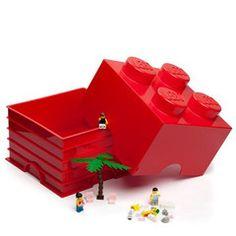 Red Lego Storage Block