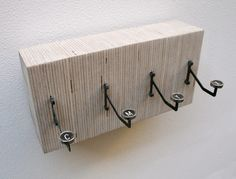 Typewriter key coat hooks