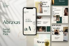 Abraxas - Social Media Brand by Dirtytemp Studio on @creativemarket Social Media Marketing Business, Social Media Branding, Business Logo, Inspiring Quotes Tumblr, Inspirational, Happy Tuesday Quotes, Change Image, Media Kit, Social Media Template