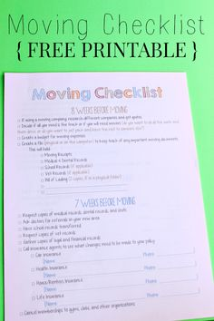 Moving Checklist For Military Families  On The Move