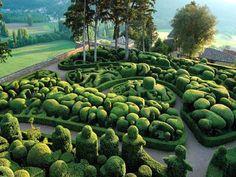 The Gardens at Marqueyssac    http://en.wikipedia.org/wiki/Ch%C3%A2teau_de_Marqueyssac