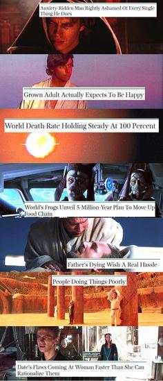 Star Wars + Onion Headlines