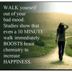 This WORKS, I'm not even kidding. If you're struggling with negative emotions. Power walking is even better! Power Walking, Fitness Motivation, Sport Motivation, Daily Motivation, Fitness Quotes, Health Tips, Health And Wellness, Health Fitness, Mental Health