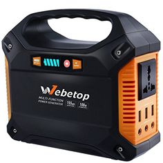 Outdoor Generators - Webetop Portable Generator Power Inverter Battery 100W 42000mAh Camping CPAP Emergency Home Use UPS Power Source Charged by Solar Panel Wall Outlet Car with 110V AC Outlet3 DC 12V3 USB Port *** Click on the image for additional details. (This is an Amazon affiliate link)