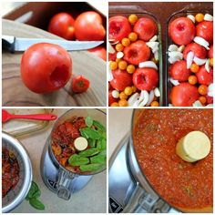 Roasted Marinara Sauce - 8 c. cherry tomatoes or 24 medium tomatoes,  2 medium onions, quartered,  8-10 garlic cloves, peeled,  olive oil,  salt,  basil leaves,  1-3 cans tomato paste, optional