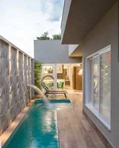 65 trending small pool designs for your backyard 74 ~ Home Design Ideas Backyard Pool Designs, Small Backyard Pools, Small Pools, Swimming Pools Backyard, Swimming Pool Designs, Backyard Landscaping, Landscaping Design, Piscina Rectangular, Small Pool Design