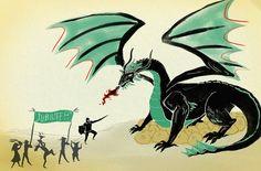 fun green dragon, on npr's site