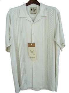 Mens Silk Camp Shirt Casual Pleats Big & Tall Sizes 2 Colors Ivory Go to the website to read more description. Casual Shirts For Men, Men Casual, Big & Tall, Chef Jackets, Short Sleeves, Silk, Ivory, Mens Tops, Colors