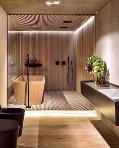 Modern Home Decor Triplex Arquitetura.Modern Home Decor Triplex Arquitetura Home Design, Modern Interior Design, Interior Design Living Room, Loft Interior, Bathroom Interior, Design Bathroom, Bathroom Ideas, Relaxing Bathroom, Small Bathroom