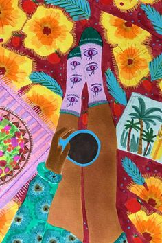 Illustrations inspired by Arab culture, nature, and fashion. Painted by Roeqiya Fris