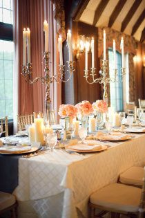 Candelabra - love the tall ones so you can see people on the other side of the table!