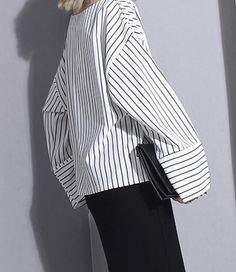Black and White Pinstripe Modern Shirt