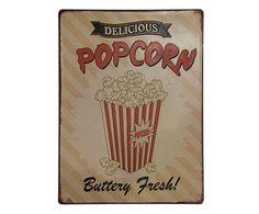 Placa Decorativa Popcorn - 26X35cm