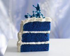 Blue Velvet Cake with cream cheese frosting. I so want this for my birthday cake this year. Somebody tell my husband!