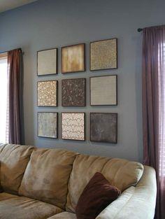 Scrapbook paper as wall art