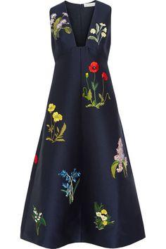 Stella McCartney | Kaitlyn embroidered satin dress | NET-A-PORTER.COM