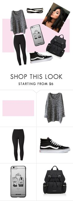 """""""grey casual outfit"""" by kailigarcia ❤ liked on Polyvore featuring Venus, Vans, Burberry, Kenneth Jay Lane and plus size clothing"""