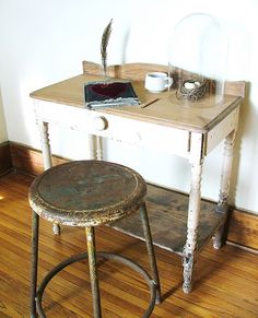 i want to find some old stools like this.