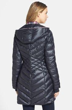 Bernardo Packable Hooded Goose Down Walking Coat (Regular & Petite) | Nordstrom