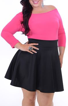 Irate (Plus/Pink/Black)-Great Glam is the web's best sexy plus size online store clothing website for 1X 2X and 3X clothes for women and juniors.