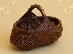 WC/307, wicker egg basket, large, scale 1 : 12, made by Will Werson.