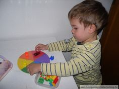 Montessori tálca, színkerék Montessori, Dinosaur Stuffed Animal, Toys, Animals, Activity Toys, Animales, Animaux, Clearance Toys, Animal