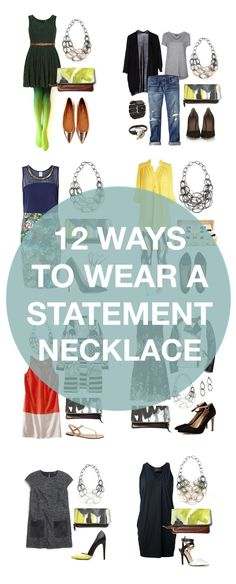 how to wear a statement necklace // 12 outfits that look better with a statement necklace // click through for outfit details