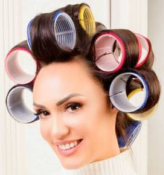 Big Hair Rollers, Roller Set, Curlers, Beauty Shop, Hair Dryer, Shops, Woman, Sexy, Tents