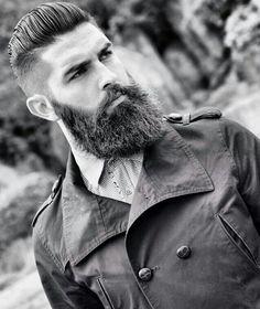 Dark beard w/ undercut