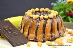 Bananen Kuchen mit Erdnussbutter und Schokolade - Powered by @ultimaterecipe