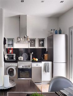 Remodeling Idea for Small Kitchen -- It is no secret that dark colors can make a room seem smaller and tighter. As you remodel your kitchen, you can open up the room and make the area seem more spacious by using bright hues in your decorating.
