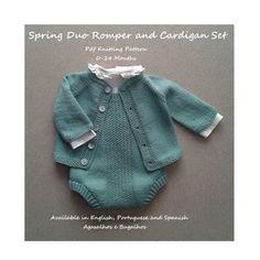 PDF Knitting Pattern Cedarwood Baby Cardigan and Romper Set | Etsy Baby Knitting Patterns, Pattern Baby, Baby Patterns, Stitch Patterns, Kids Knitting, Crochet Pattern, Sewing Patterns, Forever21, Capsule Wardrobe