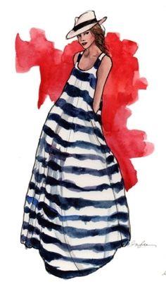 I love fashion sketches.