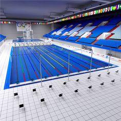 diving swimming olympic pools 3d max 3d model