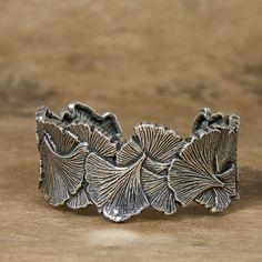 Jewelry | Bracelet | Ginkgo Leaf Cuff | Oberon Design