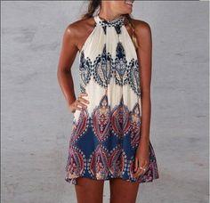 [ $19.00 ] Sexy sleeveless printed dress UERKR